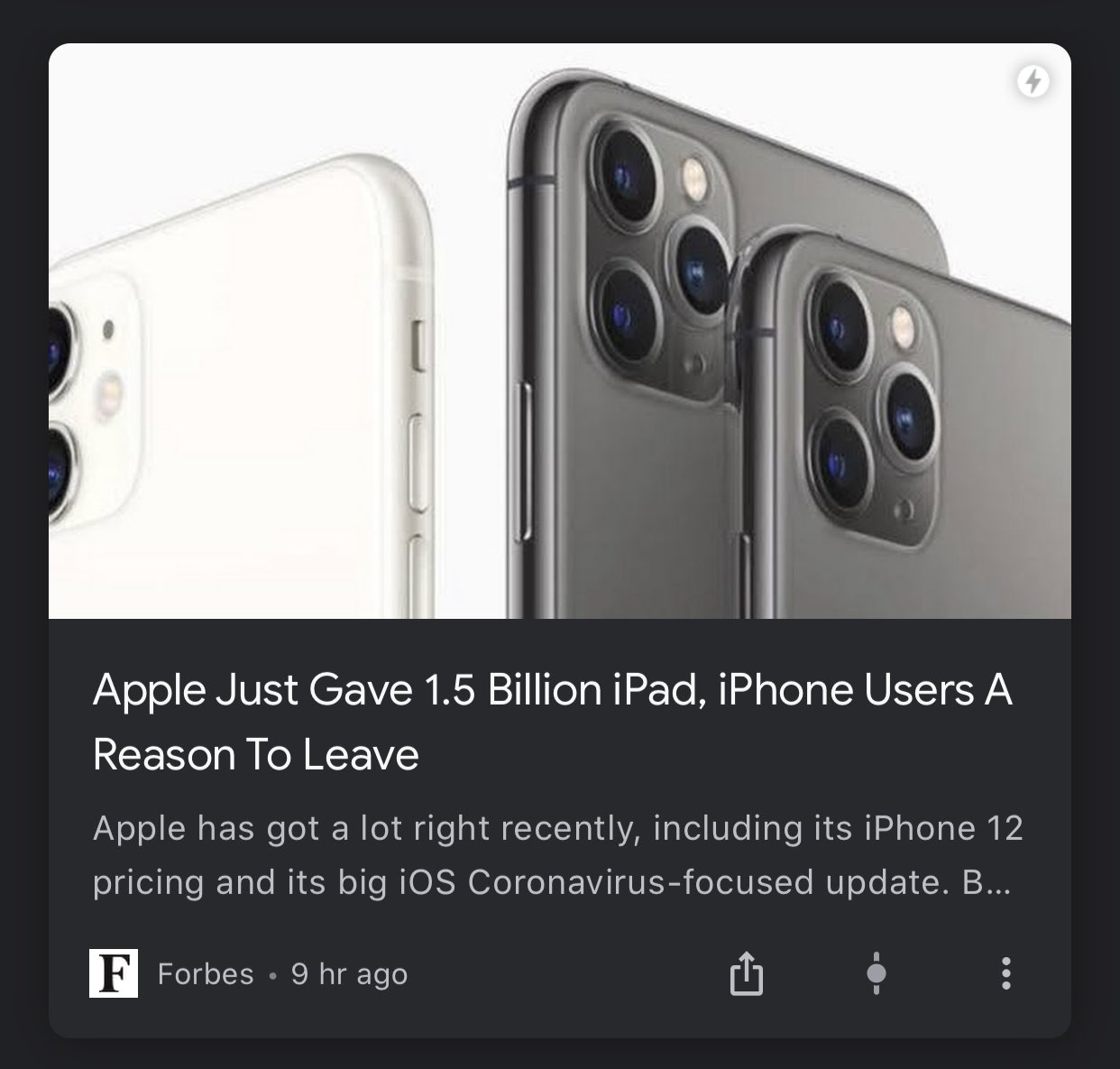 I think forbes never uses apple products at their office. Even to write this piece. #tech #madness https://t.co/9UjSiq8Rsy