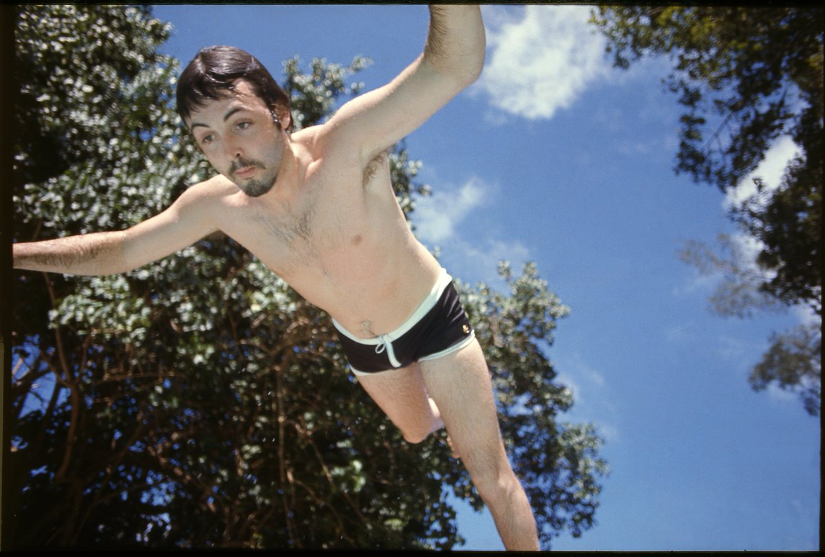 Paul in Jamaica, 1971. Photo by Linda McCartney ☀️ #FBF #FlashbackFriday