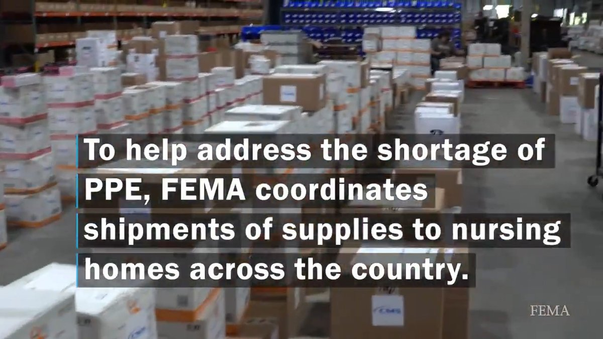 We are sending medical supplies to nursing homes across the country to help with #COVID19 needs. Watch this video for a detailed look at the process and how the staff are using the supplies 👇