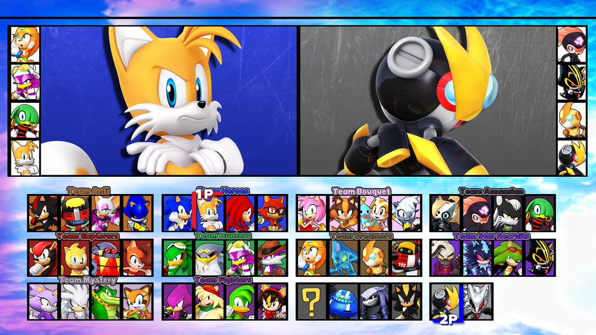 Sonic but all the team consists of 4 members and anyone is allowed!?  which 4 are you picking and do you have any better ideas for 4 man teams?