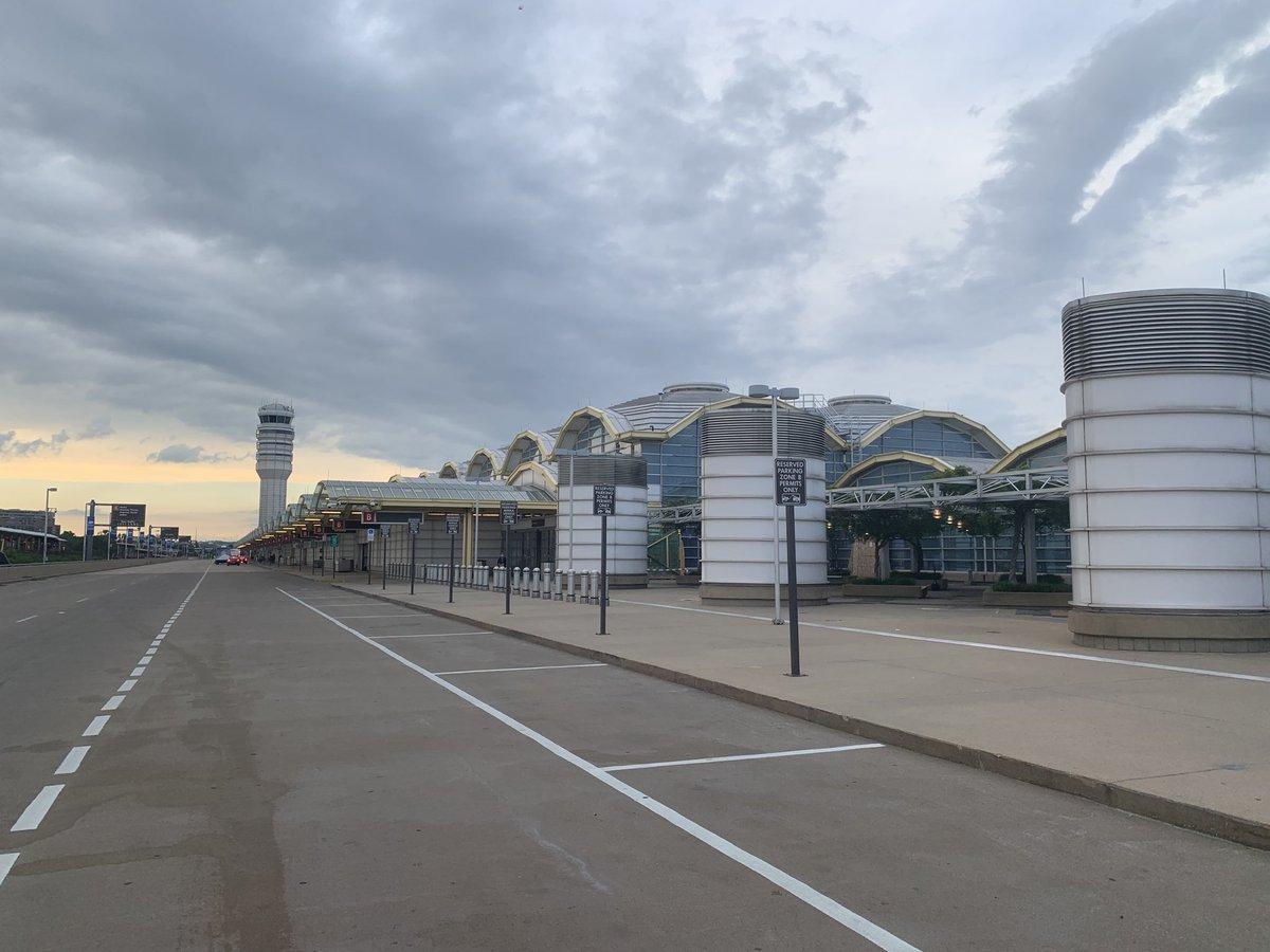 Reagan National Airport, Fri, May 22, 2020 (Memorial Day weekend), 7:30 PM