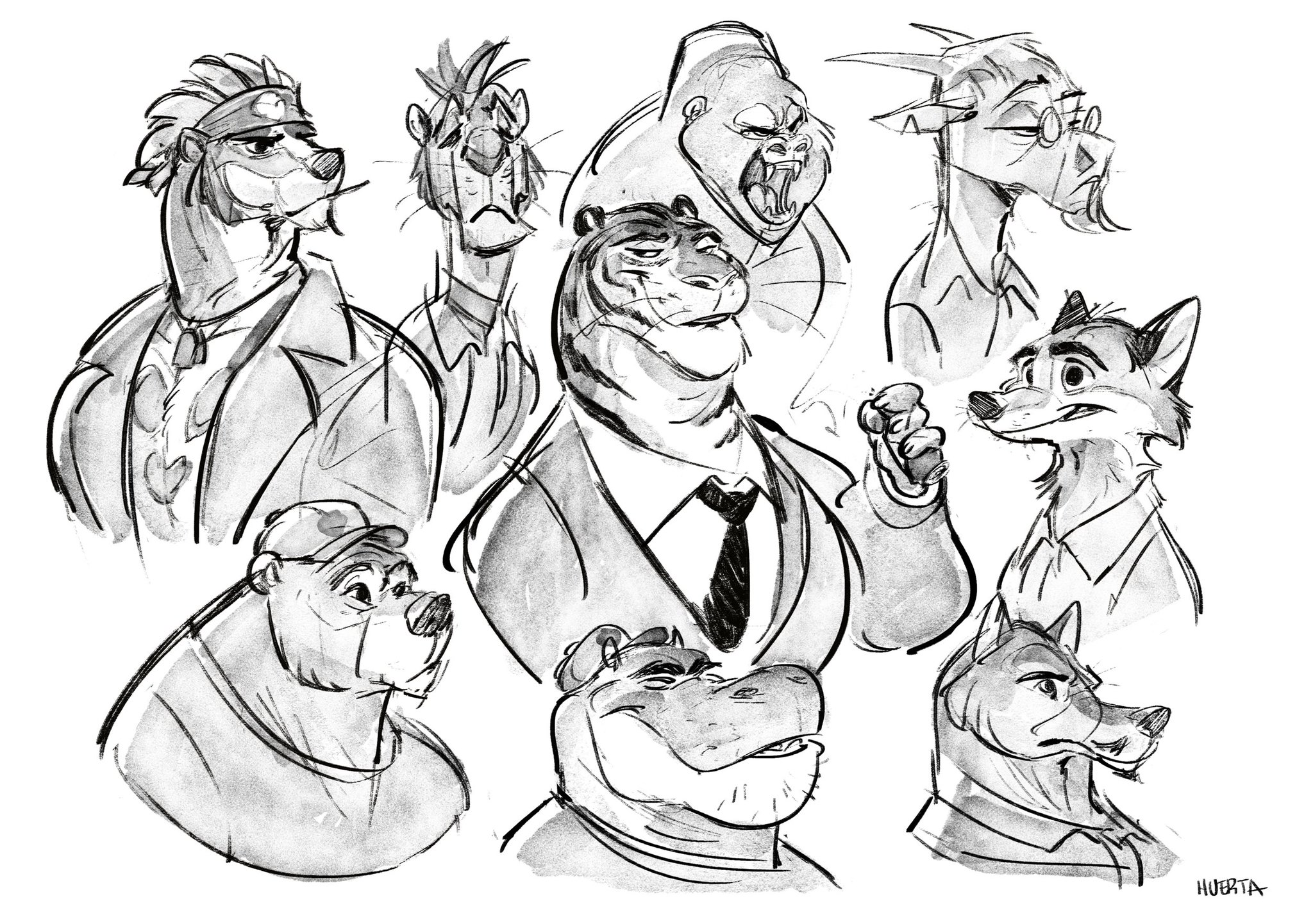 A bunch of crappy animal drawings trying to get inspiration again. #sketch https://t.co/ezxaTIGgq7