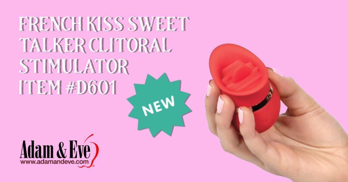 French Kiss Sweet Talker Clitoral Stimulator Item #D601 #therealadamandeve #stressrelief #adamandeve #masturbationmonth click here 👉