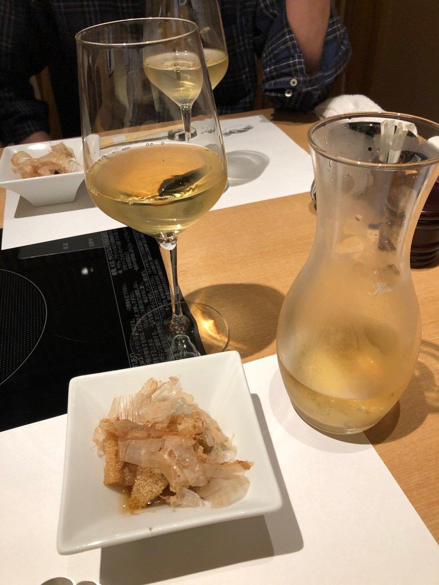 test ツイッターメディア - 5月23日(土)夕食@海乃華。お通しの子持ち昆布と白ワインに始まり、日本酒の黒龍も飲みました。筍と蕗の煮物、分葱と独活のぬた、ともに上品な味を楽しみました。 https://t.co/65ERWPybxf