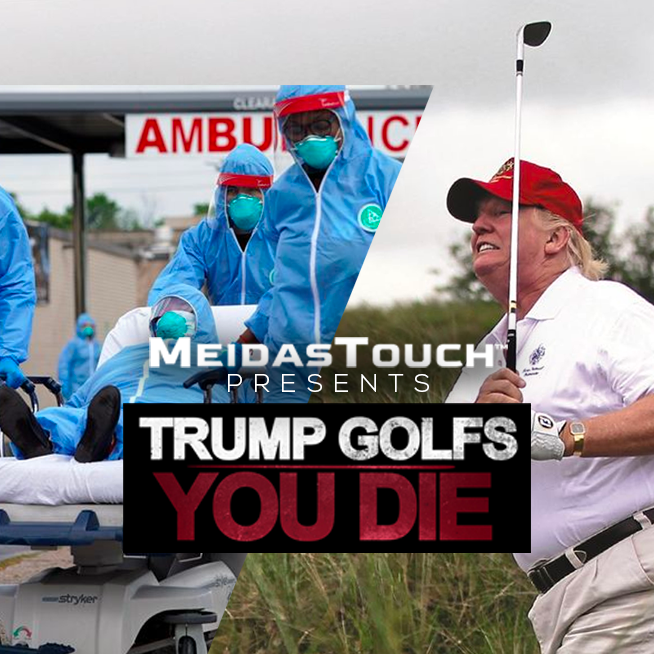 Our video #TrumpGolfsYouDie is currently the number 21 trend on Twitter.   He would HATE if we made it hit the top five.   RT and post #TrumpGolfsYouDie!  🏌️💀