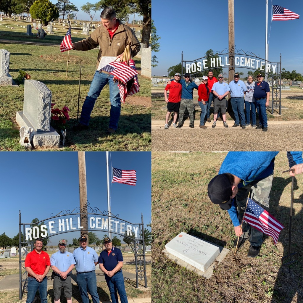 As a Retired Navy Rear Admiral, I will always admire the men & women who made the ultimate sacrifice to protect our country. Jane, Matt and I were honored to put up American flags at Rose Hill Cemetery in Tulia today to honor those who gave their all to keep us safe.