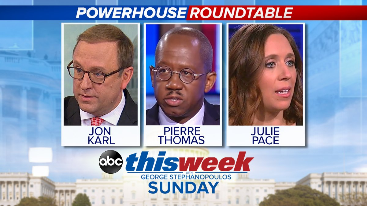 .@jonkarl, @PierreTABC and @jpaceDC join the Powerhouse Roundtable and discuss the fallout from Joe Biden's controversial comments about black voters. Sunday on @ThisWeekABC