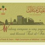 Eid Mubarak to all those celebrating today! https://t.co/rcZepyw9Aw