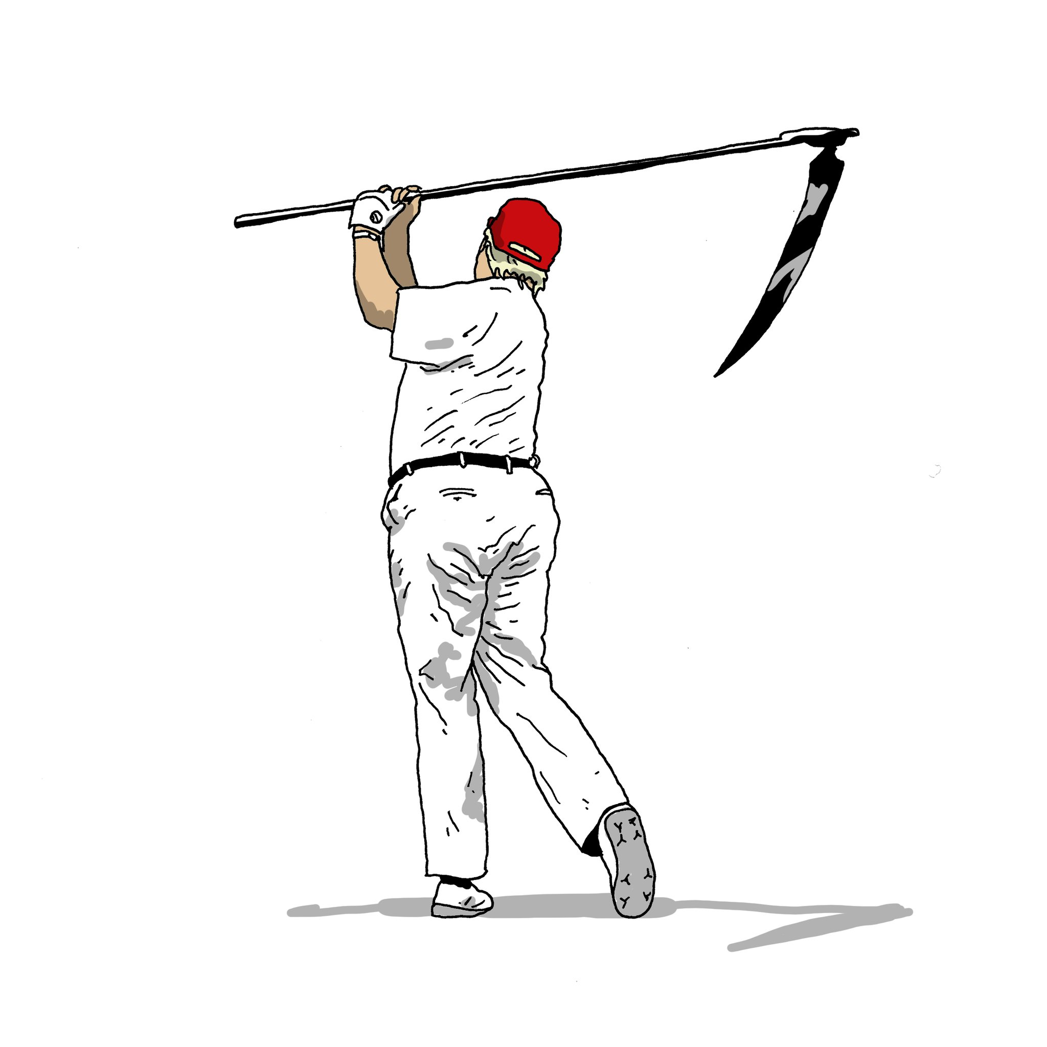 I woke up this morning and noticed that my drawing 'Donald the Reaper' was liked and shared en masse on Twitter. Thank you all for that. Please Retweet this image; I want to be sure Trump also sees this drawing today. https://t.co/wxOspPyvNB