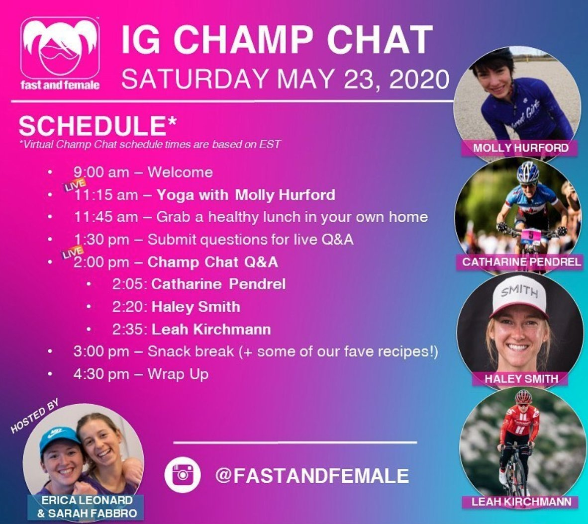 test Twitter Media - You don't want to miss @cpendrel's, @hale_smith's and @L_Kirch live Q&A on the @FastandFemale Instagram account today starting at 2 pm. Get your questions answered by these inspiring & powerful female role models! https://t.co/hIanAln2gi