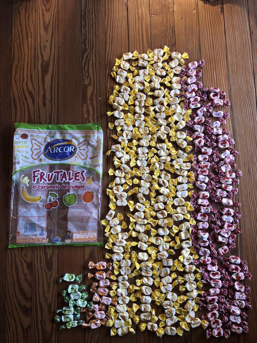 147 de banana 65 de cereza 8 de durazno 7 de manzana  ¿@arcor me pueden dar una explicación?