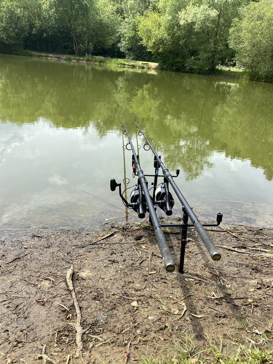 Nothing yet but beats sitting about at <b>Home</b> anyday... #carpfishing #ridgemonkey #munchbaits h