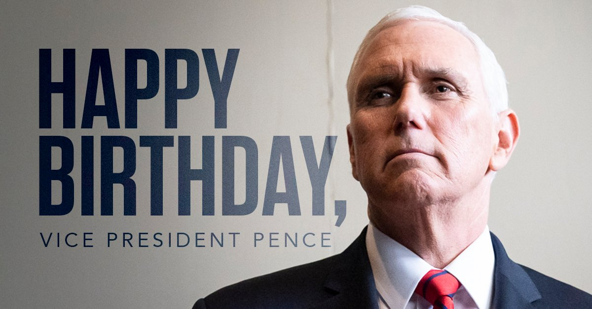 RT to wish our GREAT Vice President, @Mike_Pence, a VERY happy birthday!