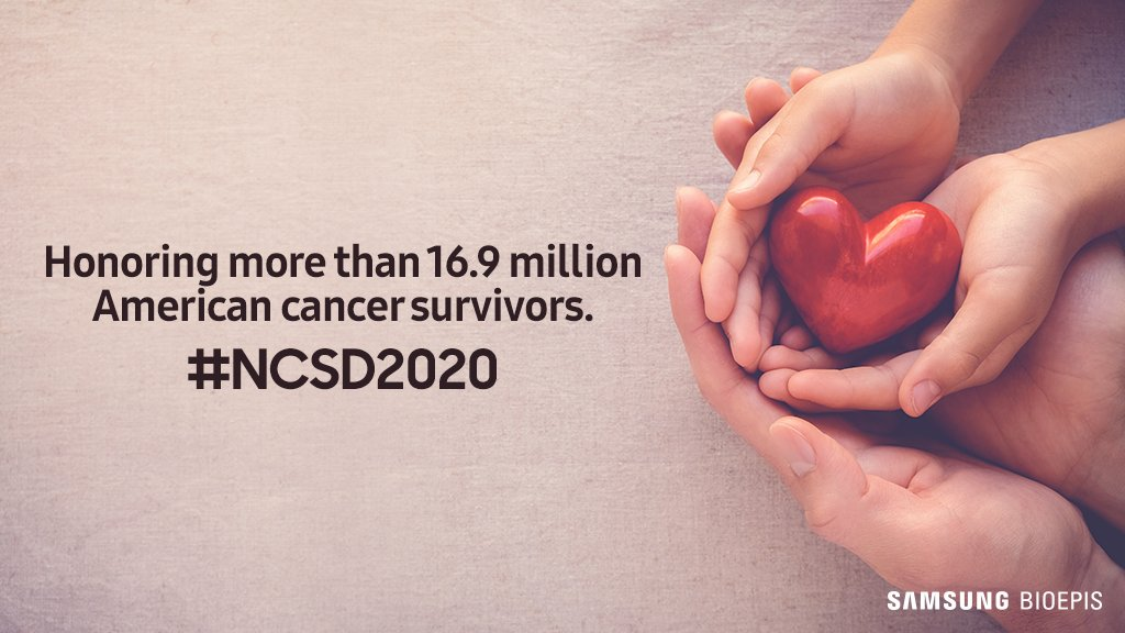 Today, we celebrate cancer survivors and those still in treatment. Here's to more celebrations to come. RT 🔁 with ❤️ and share your support. #NCSD2020