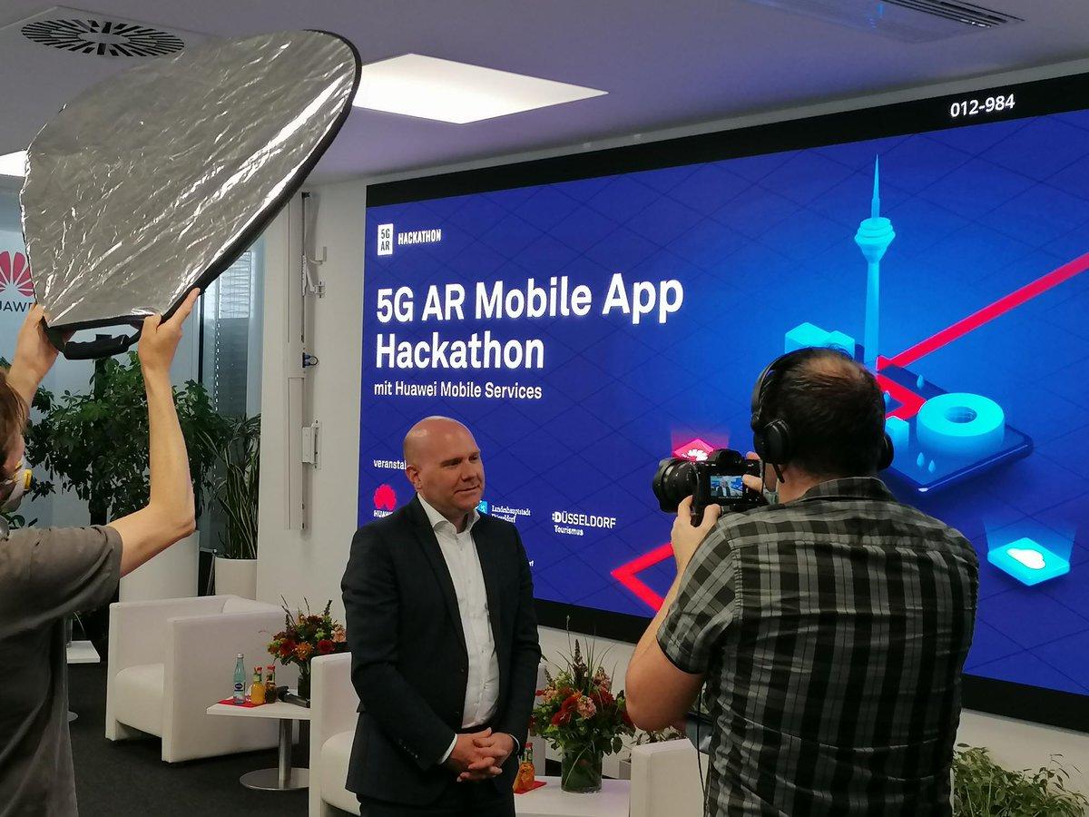 Unser Kunde @Huawei_Germany, @digihub, die Stadt @duesseldorf und Weitere veranstalten ab Juli den ersten #5G #AR HMS #Hackathon in Europa. Bei der gestrigen PK haben wir die Orga, Interviews sowie die Entwicklung von #SocialMedia-Snippets übernommen 👉