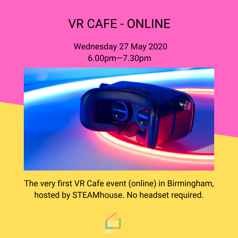 TODAY at 6pm - hear from @AshaMarie18, immersive experiences expert from @immerseUK_ and @eelizabethjack, BDM at @retinize immersive media studio at our very first VR Cafe, no headset required:    #virtualreality #vr #ar #tech #smallbusiness #startup