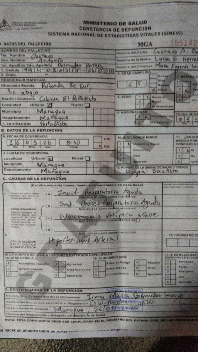 El colectivo de 100% Noticias envía condolencias a la familia del periodista Gustavo Bermúdez de Radio Corporación, quien falleció por coronavirus. Su familia denuncia que el régimen amenaza a médicos del Hospital Bautista para poner otras causas de muerte