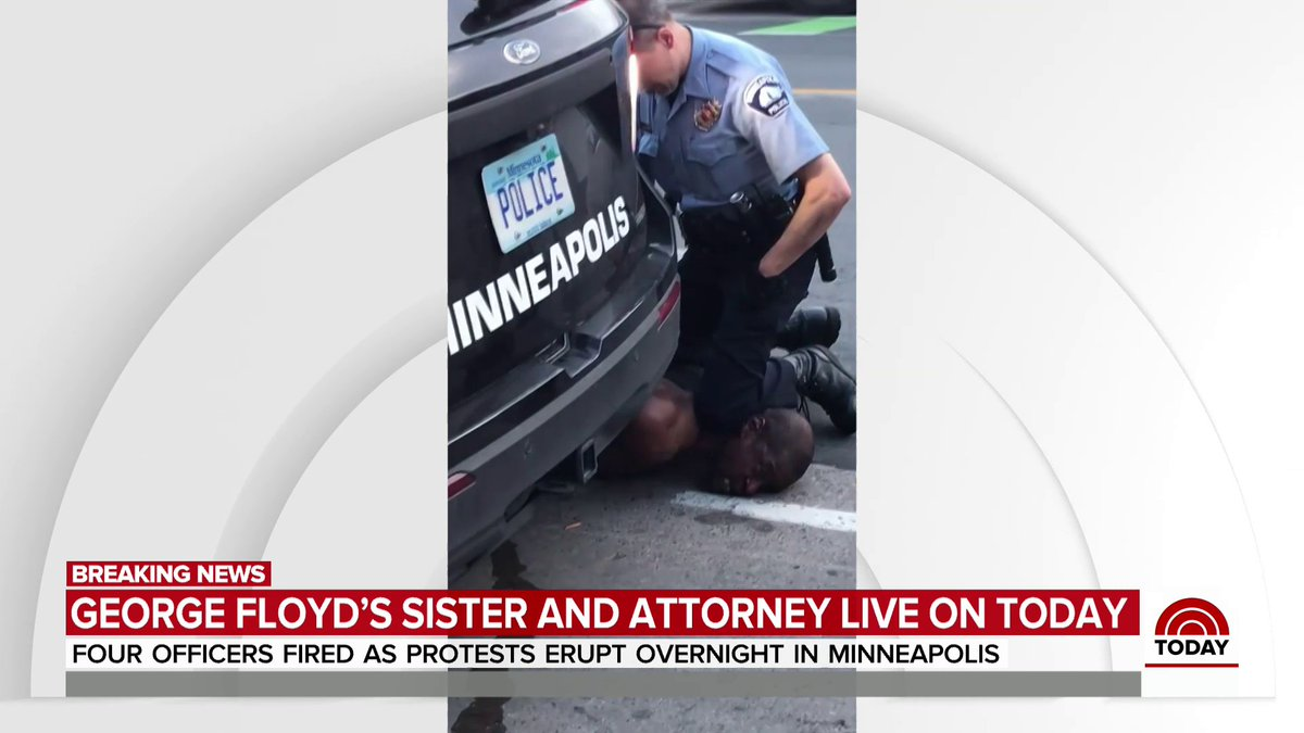 """Bridgett Floyd on the police killing of her brother, #GeorgeFloyd: """"I would like for those officers to be charged with murder because that's exactly what they did. They murdered my brother."""""""