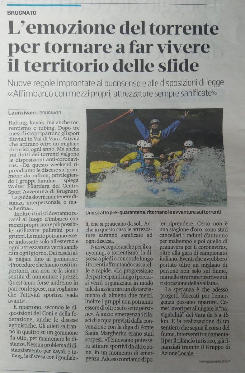 test Twitter Media - I nostri amici del Centro Sport Avventura di Brugnato questo weekend ripartono con le escursioni in kayak e rafting, osservando le dovute precauzioni!!! #kayak #rafting #brugnato #valdivara #turismoligure #visitvaldivara https://t.co/zPhH7eCvZX