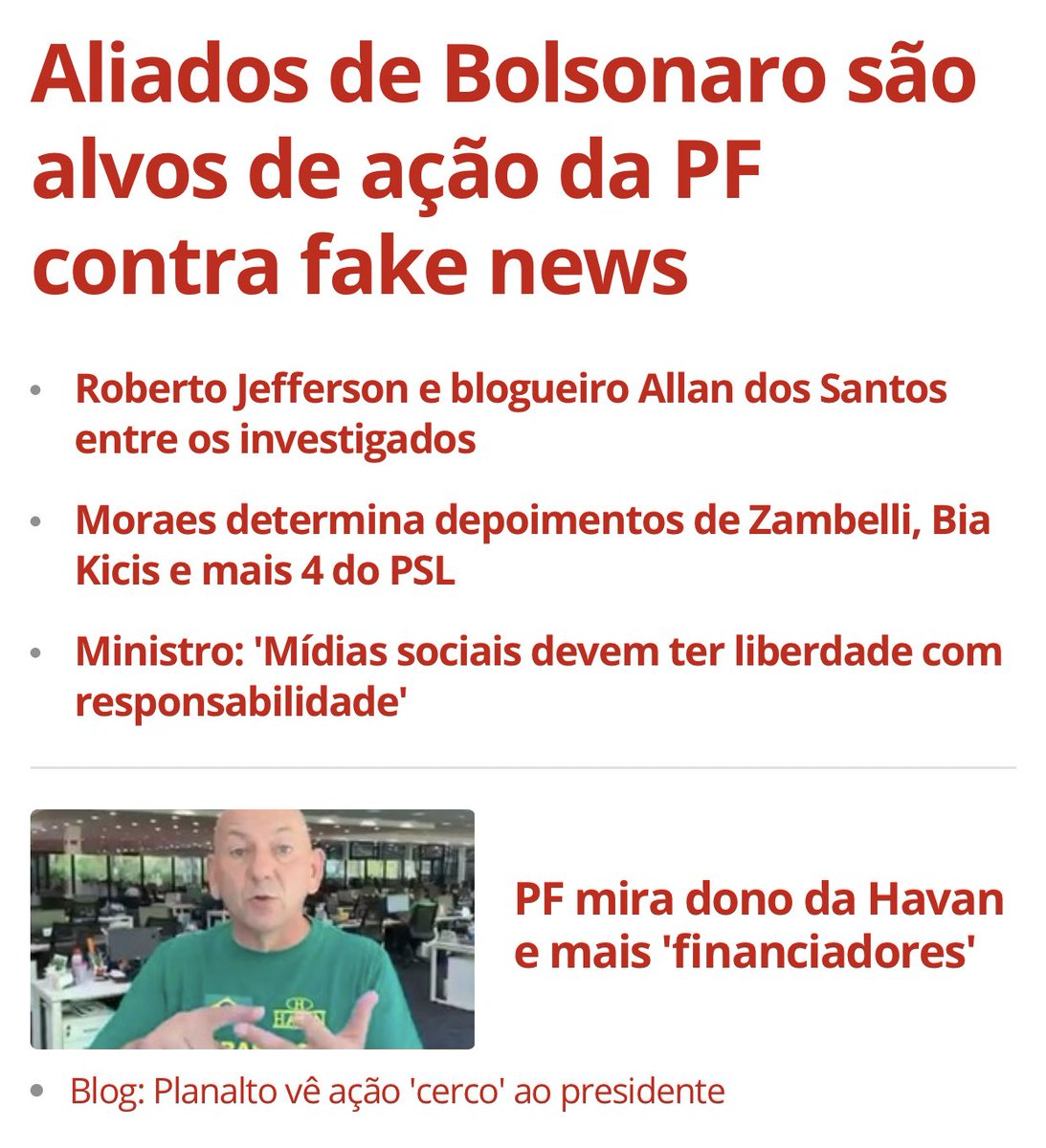 Obrigado, Brasil, por este momento.  Tem que cair um por um no esquema das fake-news. Cadeia neles!