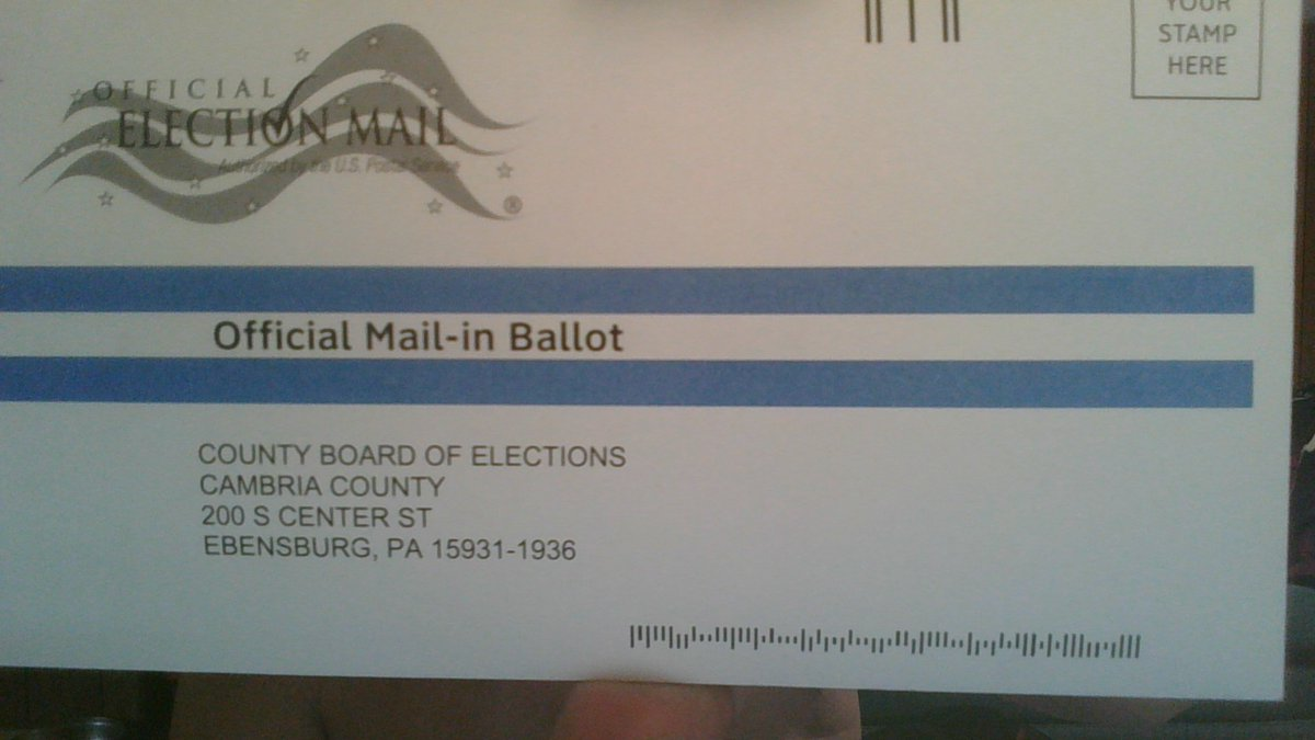 @PressSec No problems, here at all. Can you please provide a real photo of this? I voted, got an email upon receipt, and that it was duly recorded. I'm running for Congress representing PA. Davy Crockett 2020 is coming.   #VoteByMail #vote #PA15   @Realrrjenkins