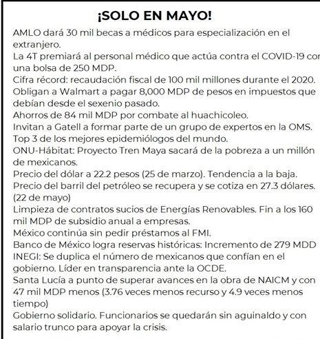 Lista de lo que ya ha sucedido en México #4transformacion #AmloElMejorPresidenteDelMundo  #EsUnHonorEstarConObrador