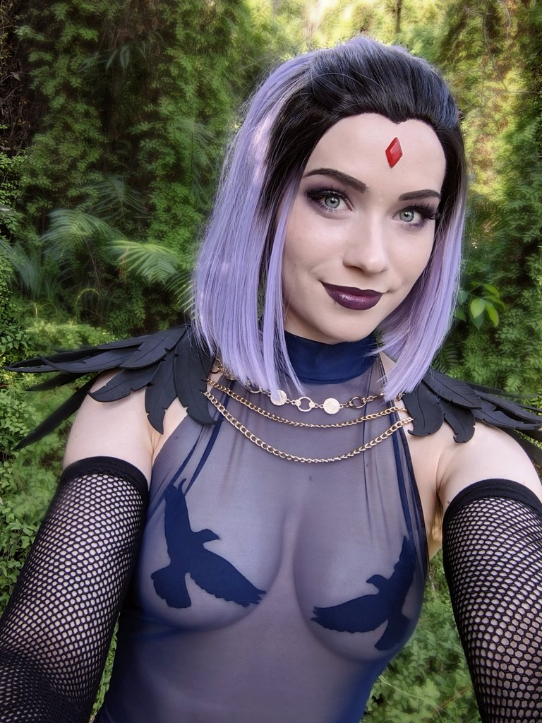 Shot my lewdy Raven design today! I'm so keen to drop this MASSIVE set on my Patreon within the next couple of days 🥰 Here is a sneaky peek 💕