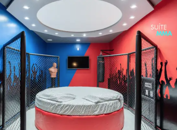Brazilian Sex Hotel Opens MMA Themed Room Complete With An Octagon For Couples