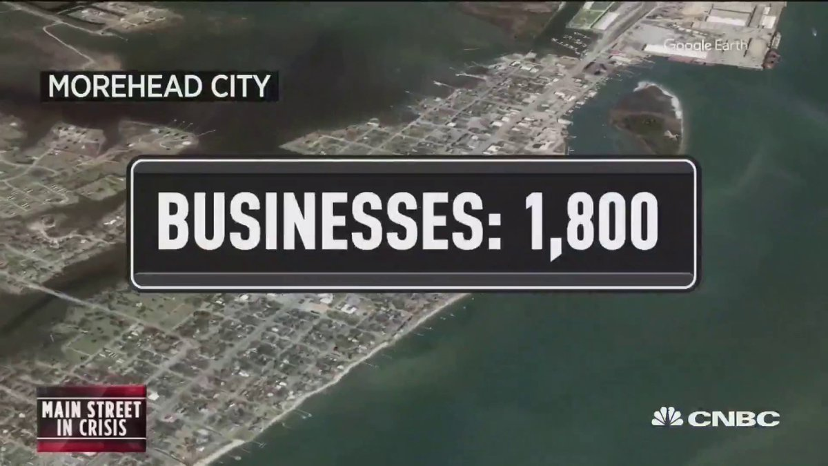 Small businesses in resort towns are still hoping for a summer boost. @AndreaDay talked to 3 entrepreneurs in Morehead City, NC about how they've adapted to the crisis.  Tune in tonight at 7 p.m. ET for our special report: Markets in Turmoil.