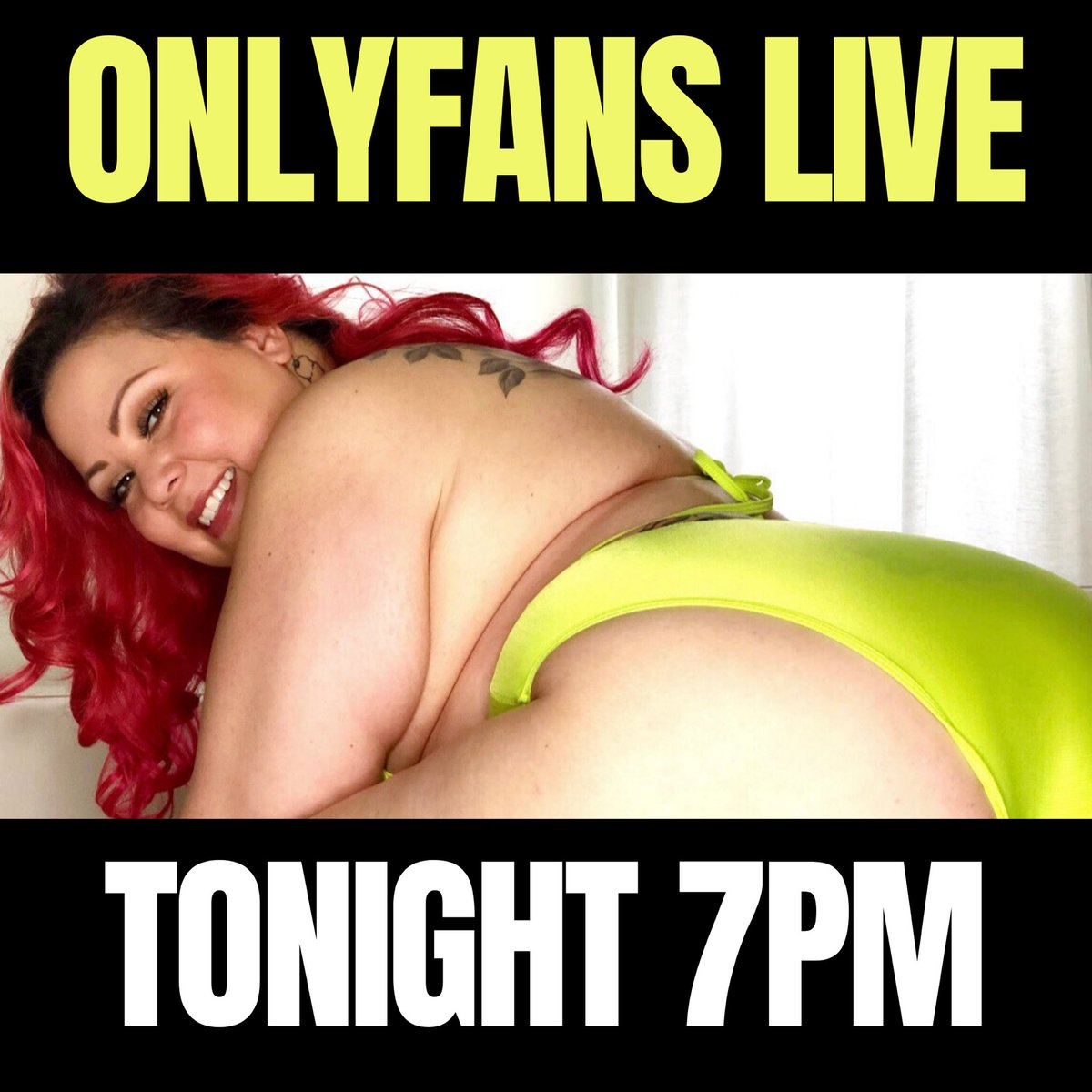 I can't wait for my live show tonight at 7pm PST! I'm offering a 40% discount for a limited number of subscribers, so you can cum play with me! I've got some new toys I want to try with you. 💛