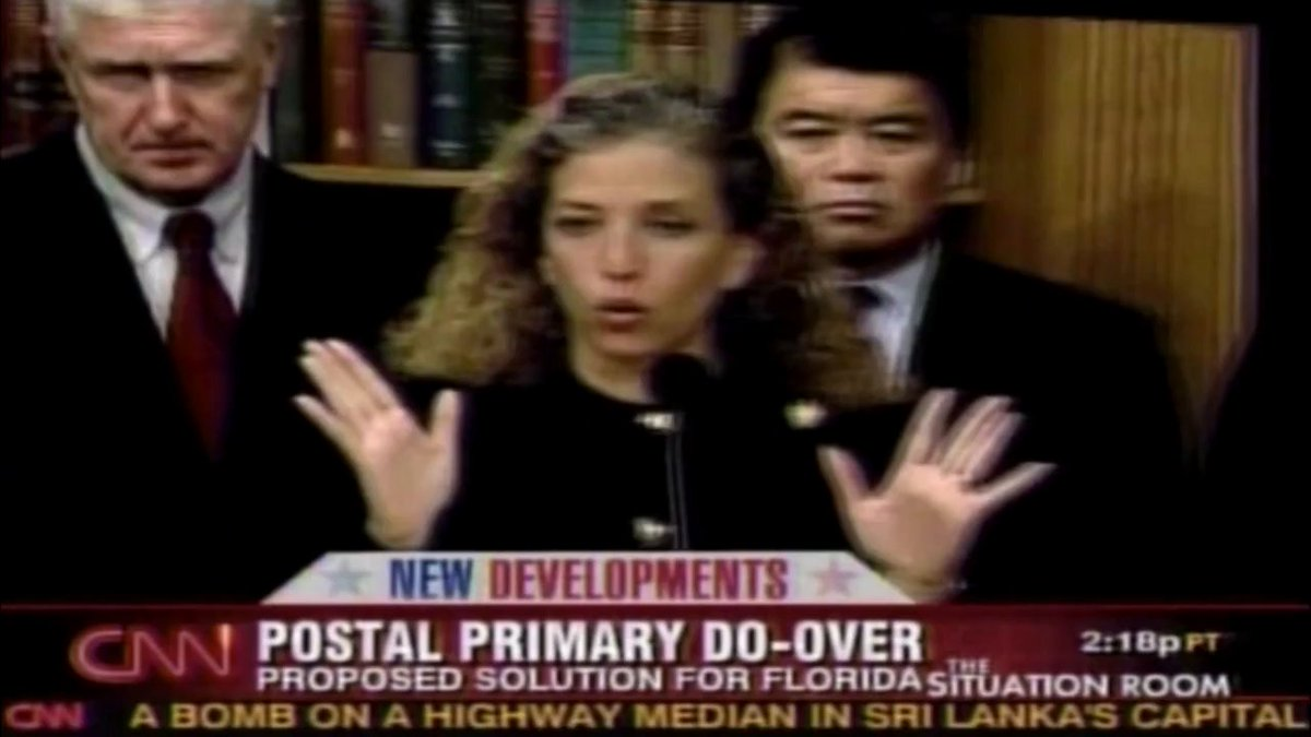 "Even Democrats don't agree with the claim that vote-by-mail is free of fraud.  Rep. Wasserman Schultz in 2008: ""It'd be a risky experiment for us with an election that has stakes as high as a presidential election. We've never done a mail-in ballot statewide."""