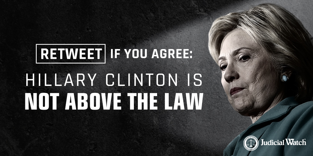 #HillaryClinton is not above the law, yet she has a record of contempt for the rule of law. Our leaders are bound by the rule of law, so Clinton must be held accountable. RETWEET if you agree & sign HERE: