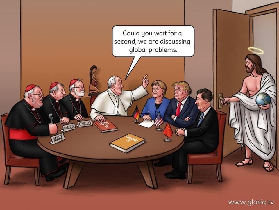 In Germany: Could you wait for a second,  we are discussing necessary church reforms!
