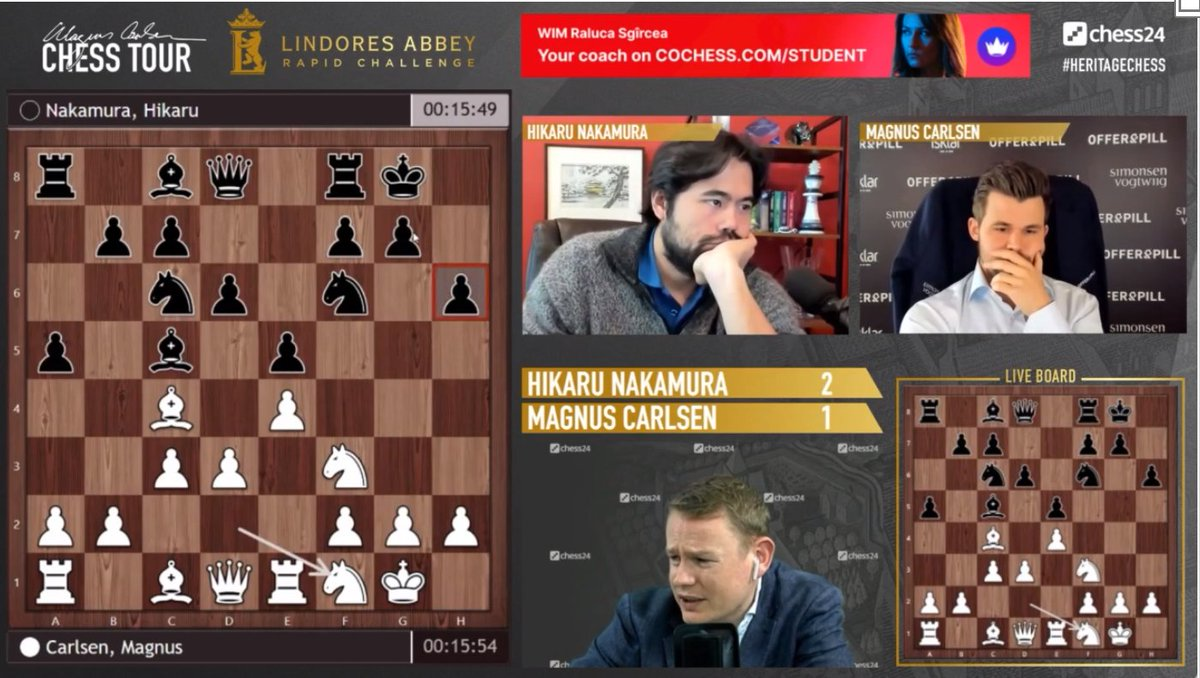 test Twitter Media - This is it! Magnus must win this game now or the Nakamura-Carlsen semifinal will go to a decider tomorrow: https://t.co/tRnAKX7iSE  #c24live #HeritageChess https://t.co/mdV1iQg6yu