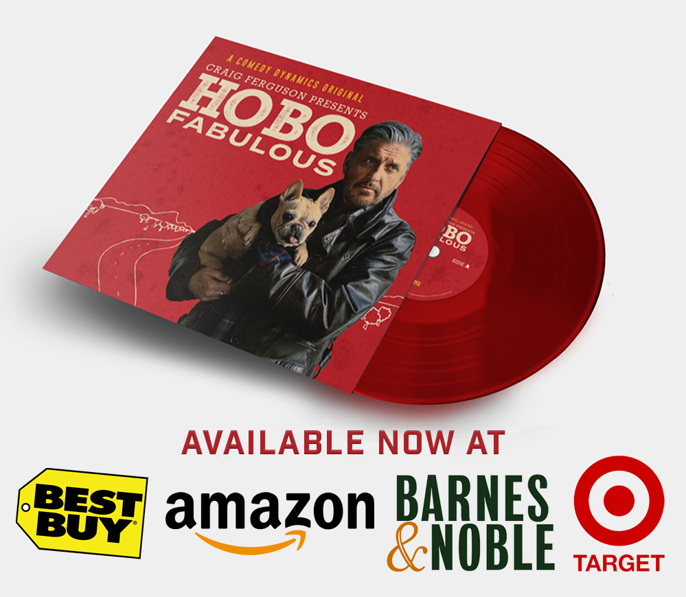 Hobo Fabulous vinyl is finally here. Pressed on beautiful apple red double LP. You can purchase it on  @amazon here:  It is also available at @BestBuy @Target & @BNBuzz Watch the full series here:  #hobofabulous #thecraigfergusonshow