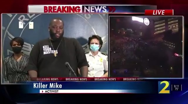 The whole country needs to stop right now and listen to Killer Mike. He's verbalizing what a lot of us don't know how to express