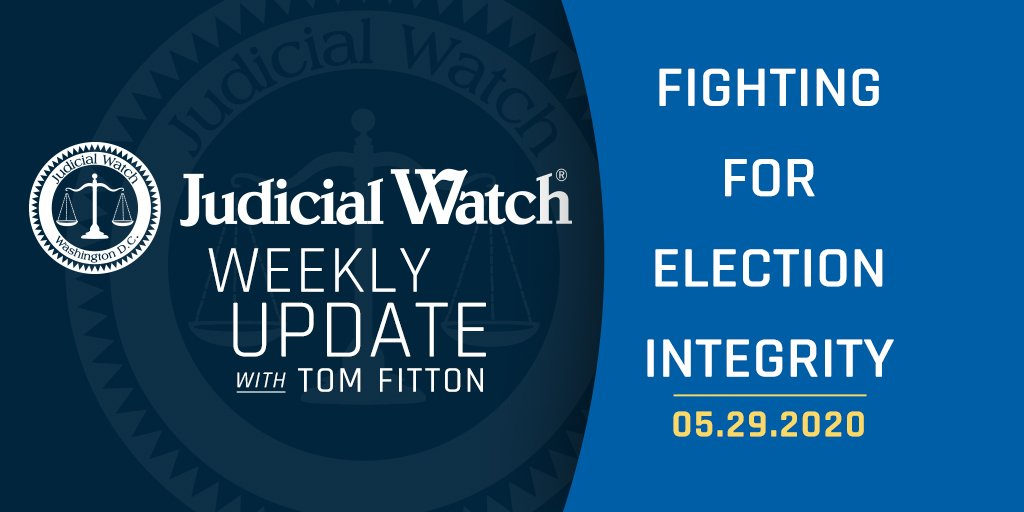 Judicial Watch's Weekly Update: #ElectionIntegrity to restore voter confidence nationwide, Antifa militant who praises cop killers gets cash settlement, and DHS risks safety and security by letting 'at-risk' air cargo enter U.S. Read: