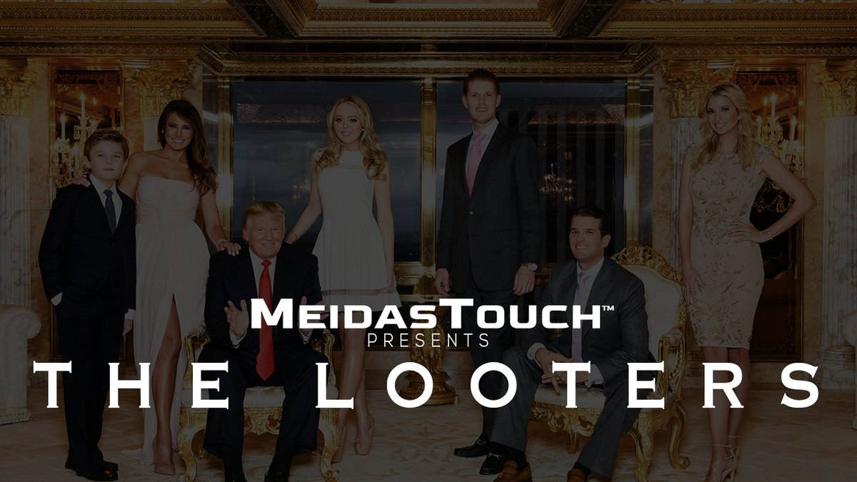 Trump and his cronies are looting America.