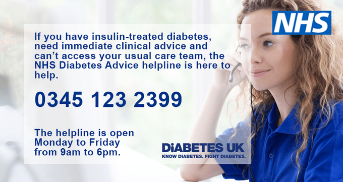 test Twitter Media - To all with #Diabetes   Hopefully we will be able to have #T1D online self management /education platforms from next week  #T2D to follow shortly thereafter  This will be alongside the #NHS National Advice helpline via @medcrowd @DiabetesUK   @NHSDiabetesProg are here to help 💙 https://t.co/0rIM1RWst9