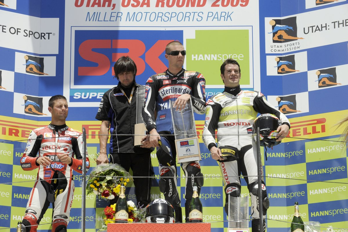 test Twitter Media - 🇺🇸 #Onthisday in 2009 @BenSpies11 took the victory at Miller Sports Park Race 1 and became the first American to win a WorldSBK race since Colin Edwards in 2002🏆.   #WorldSBK https://t.co/E3HeU0G8yp