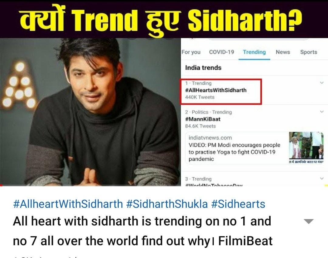 Check it out #AllHeartsWithSidharth @sidharth_shukla kiyu huye trend..well #SidHearts ne kiya #SidharthShukla Ko trend..!    @shashi_kant7 @Neil_Panchtilak @AnwerKh50602765 @SharaniaJ @OfficialSidNaaz @SidNaaz_Forever @SidNaazUpdates @SidNaazVideos