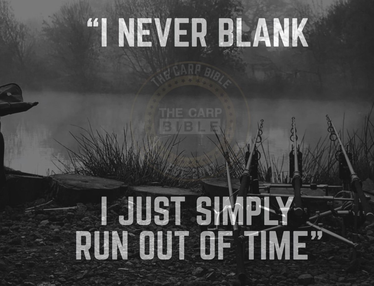 """""""I never blank, I just simply run out of time"""" 💪🏻🎣   @TheCARPbible  #TheCARPbible #Carp"""
