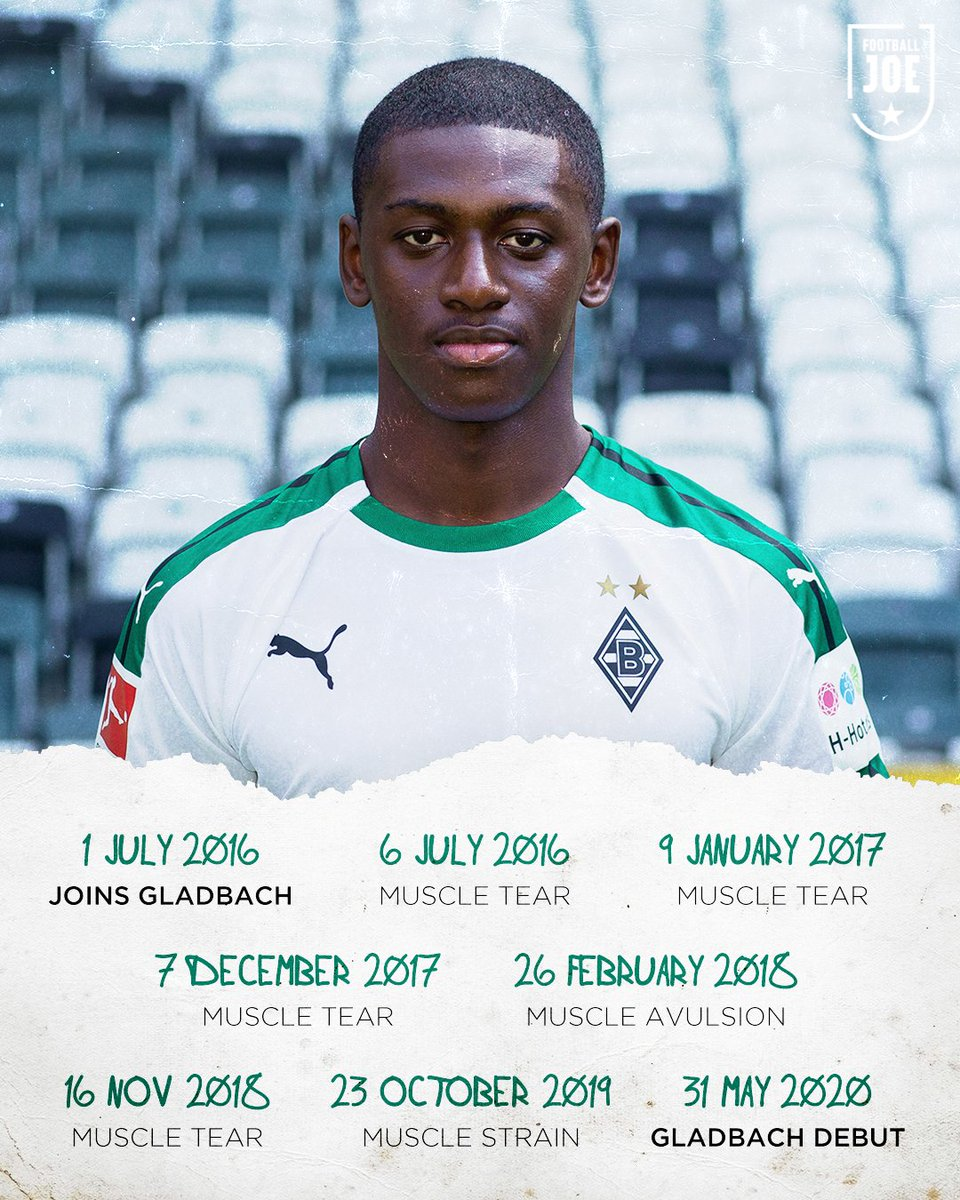 After signing from PSG in 2016, Mamadou Doucouré suffered four years of injury setbacks at Borussia Mönchengladbach.  Today, he made his Bundesliga debut.