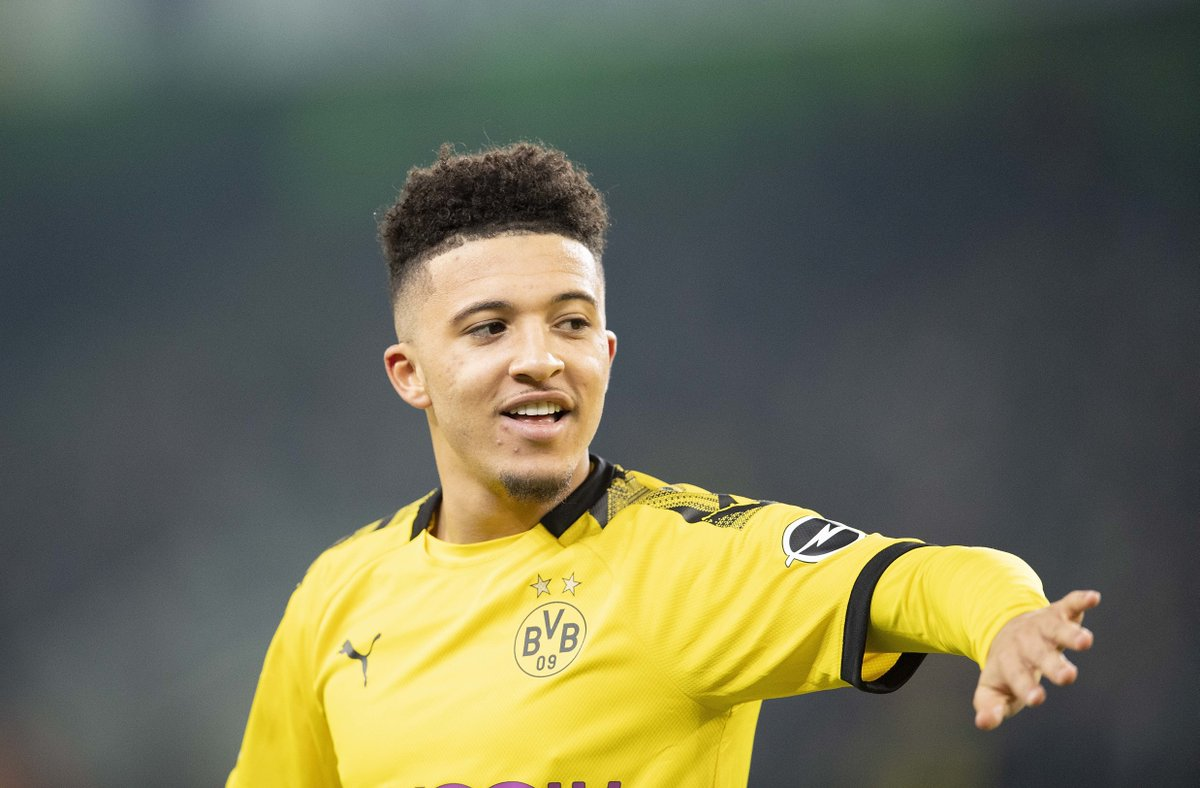 Jadon Sancho has scored his first senior career hat-trick for Borussia Dortmund.  27 games. 17 goals. 16 assists.  There's no stopping him. 🔥