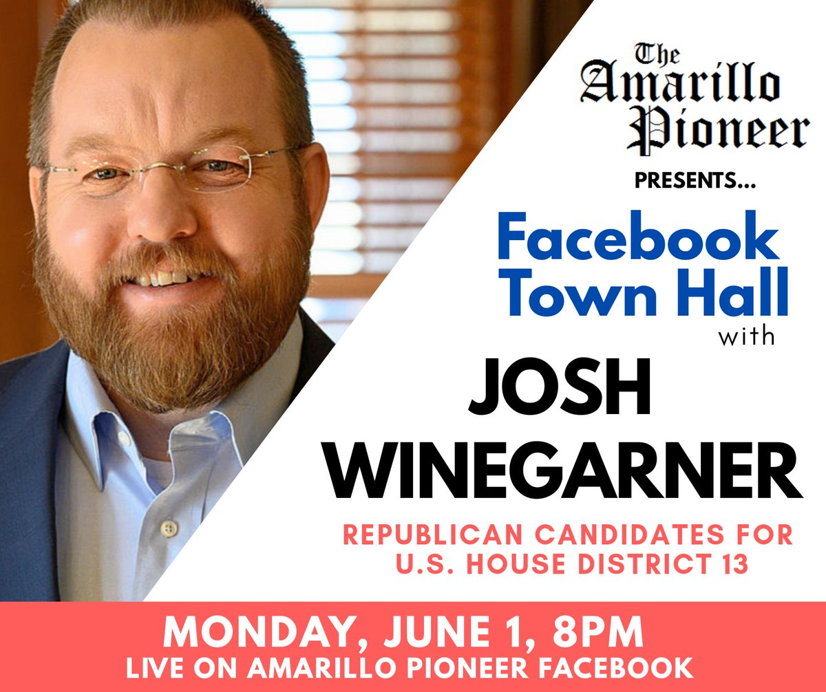#Republican @WinegarnerTX, @RonnyJackson4TX, #Libertarian Jack Westbrook, #Democrat @GusForTX, and @gtsagan will be participating in town halls on our Facebook page this week. You won't want to miss them! #TX13