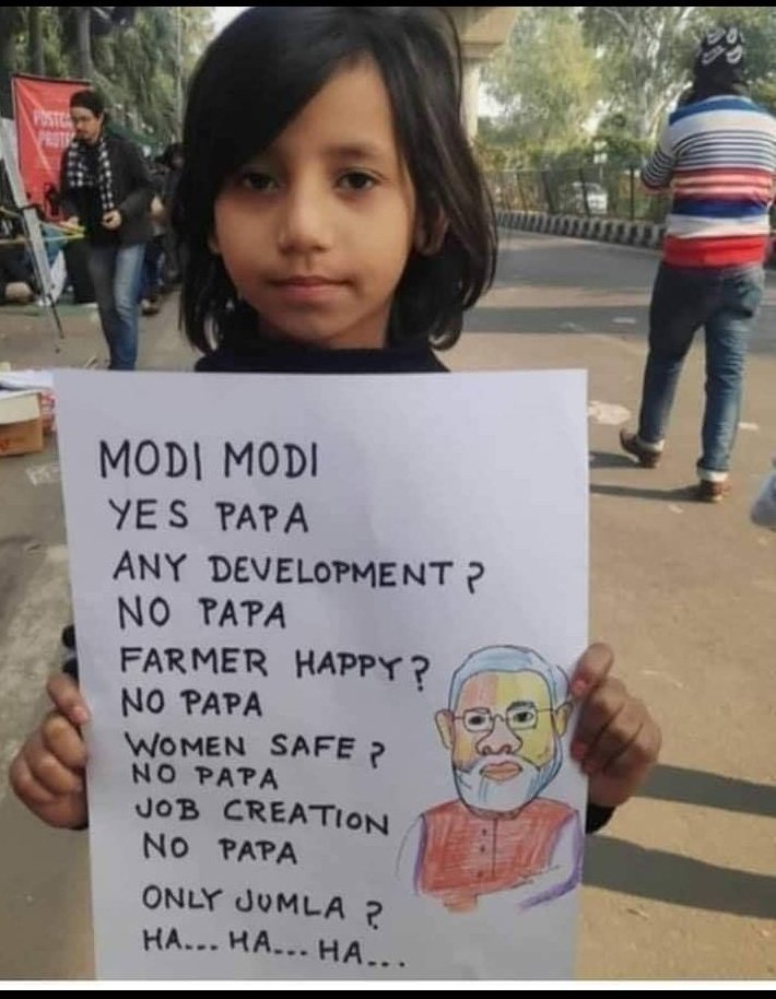 #StepDownModi Now every Educated Kid know the truth except Uneducated and Unemployed Bhakts 😂😂😂😂 #share  #StepDownModi