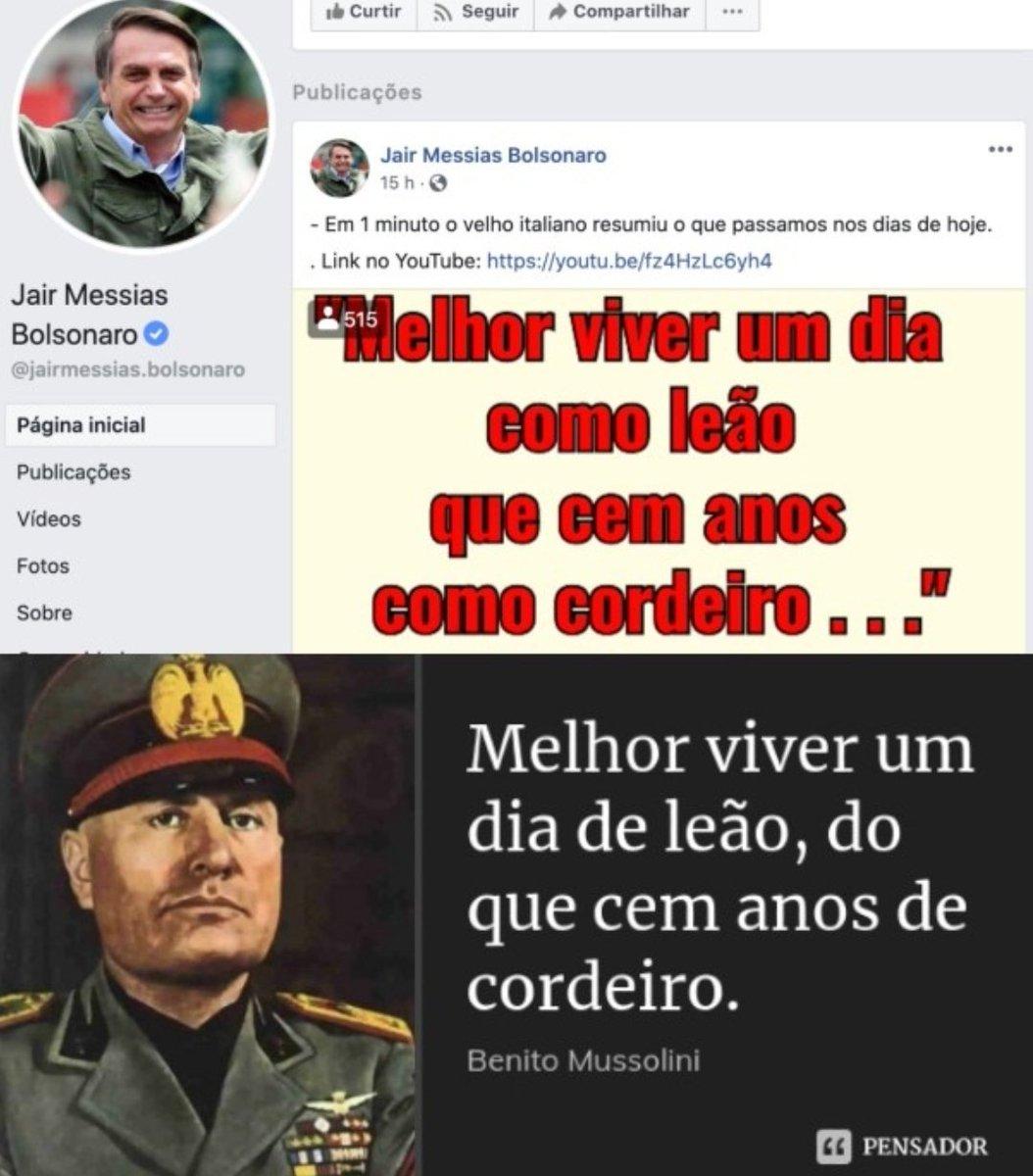 Bolsonaro não é cordeiro e muito menos leão. É um rato que quer mergulhar o país no esgoto do fascismo. As máscaras caíram. Nunca um golpe foi tão abertamente anunciado. Cabe a nós democratas, unidos, derrotarmos esse fascista aspirante a ditador. Somos maiores e mais fortes.
