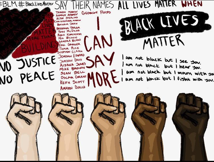We have nothing more important than each other. I'm not sure if I should speak out, but if I could say one thing it would be that the fight for equality can never stop. Without condoning destruction, I advocate for progress. #IStandWithYou #EnoughIsEnough #BlackLivesMatter