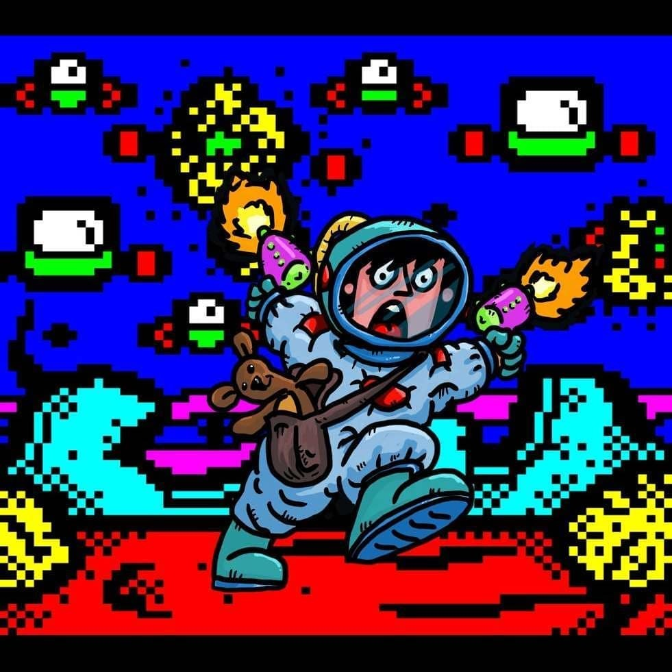 test Twitter Media - Mistigram: no sooner did he arrive than @horsenburger's Space Misadventurer knew he had to effect an... Escape from Planet #Teletext!  This piece was included in last month's science fiction-themed MIST0520 artpack collection. https://t.co/ux2rl1SKS4 https://t.co/yaL7nqvAfa