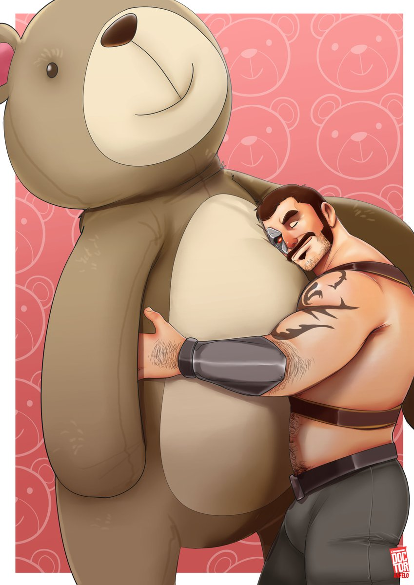 Kano loves big bears  - Mortal Kombat 11  (I know this is Scorpion's Friendship finisher but honestly I wanted to see how it looked with Kano) #bara #gaymer #GayArtists